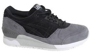 Asics Gel Respector Nero Grigio Stringati In Pelle Sneaker Uomo H6U1L 9090 D108