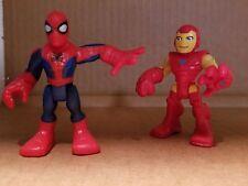 Playskool Spider-Man & Iron Man Marvel Comics Heroes Adventures Action Figures
