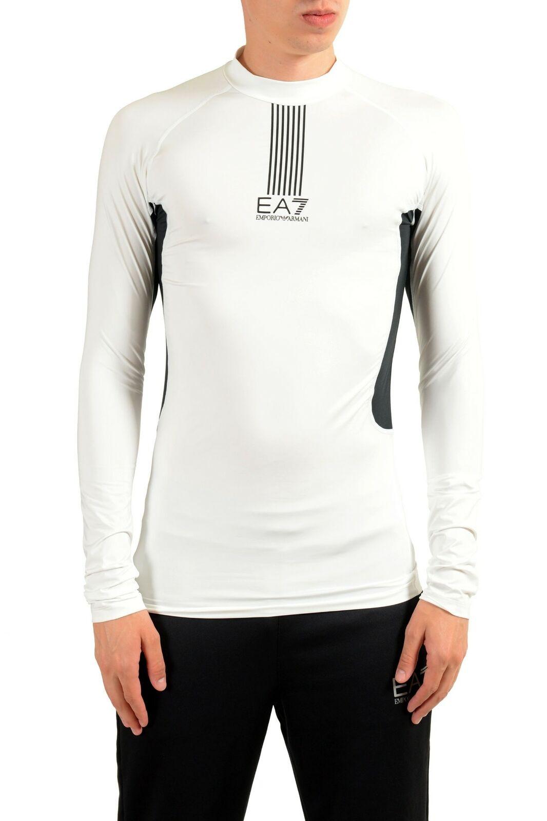 """Emporio Armani EA7 """"Tech M"""" para hombre blancoo  Cuello Alto Manga Larga T-shirt Tamaño L XL  compras en linea"""
