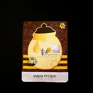 [ Papa Recipe ] Bombee Honey Butter Cream Mask Pack (5sheets) Vanity Planet Spin for Perfect Skin Replacement Heads, 4 pc