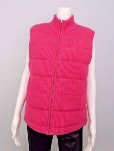 La Vela Portofino Women's Fuchsia Pink Zip Up High Neck Sweater ...
