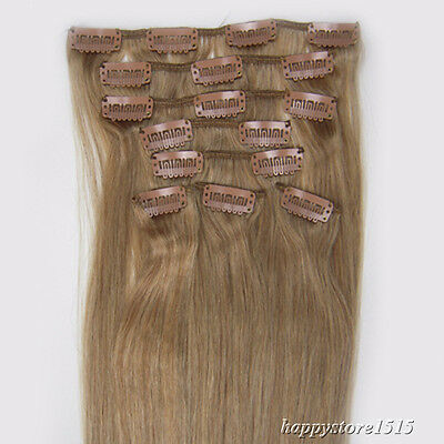 100Gram For a Full Head Clip in Remy Human Hair Extensions Grade AAAAAAA 20Inch