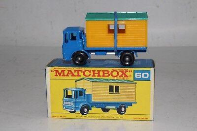 Matchbox Lesney 60 b Leyland Site Hut Truck empty Repro E style Box