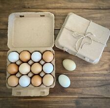 Henlay Vintage Square Style Egg Cartons 25bundle