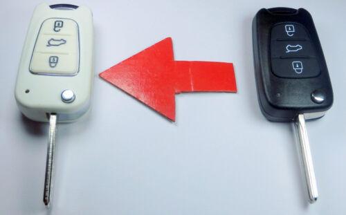 HYUNDAI 3 button Key shell MODIFITE SET TO WHITE KIA