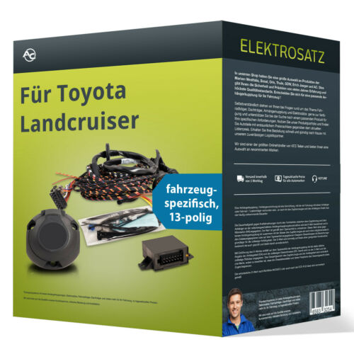EBA Toyota Landcruiser Elektrosatz 13-pol spezifisch NEU inkl