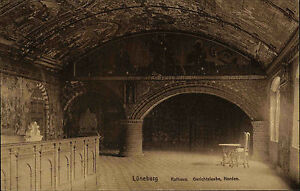 Lüneburg Niedersachsen Ansichtskarte ~1910 Innenansicht Rathaus Gerichtslaube