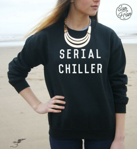 * SERIAL CHILLER Jumper Sweater Sweatshirt Top Tumblr Fashion Summer Grunge Dope