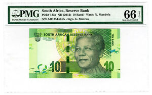 Nelson-Mandela-2012-South-Africa-Reserve-Bank-R10-Banknote-PMG-Graded-EPQ-66