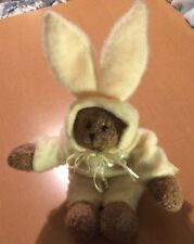 """Crazy Mountain Imports Plush Bear Dressed as a Bunny 12"""""""