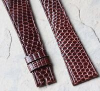 Last One Oxblood 18mm Vintage Universal Geneve Watch Lizard Band Made In France