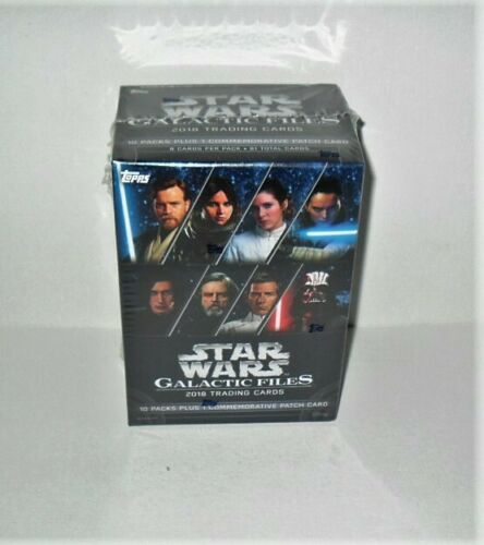 TOPPS STAR WARS GALACTIC FILES BLASTER BOX 10 PACKS /& 1 HIT PATCH CARD