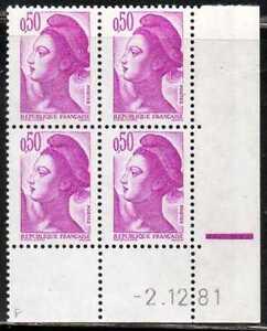 Coin Daté Liberté N° 2184 Du 2/12/1981 **