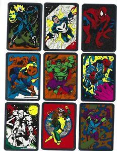Vintage  SPIDER MAN vending machine Sticker set of 12 1992 MARVEL Foil Rare !!