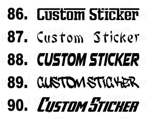 Personalisierter Text Slogan Fluoreszierend Leucht Vinyl Aufkleber Schriftarten