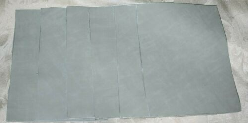 Scrap leather Genuine Cowhide  pale light green 6 pieces 8x6 inches New