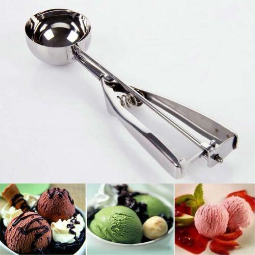 New UK Stock Stainless Steel Scoop Ice Cream Spoon Mash Potato Food Baller 6cm