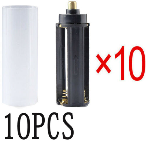 10PCS AAA Battery Holder For Flashlight Torch Light 10PCS 18650 Battery Tube