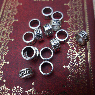 Set of 30 Tibetan Silver Dreadlock Dread Beads 6mm Hole
