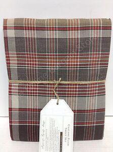 Pottery Barn Teen PBT Cascade Plaid Twin XL Sheet Set Brown Red