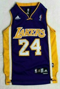 Details about Kobe Bryant Los Angeles Lakers Jersey #24 Adidas Kids Size Small Length 2