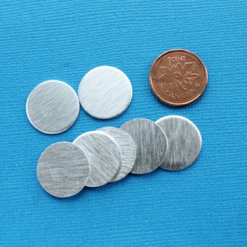 "20 Brushed Aluminium Silver Disc No Hole 11//16/"" MT138 17.5mm"
