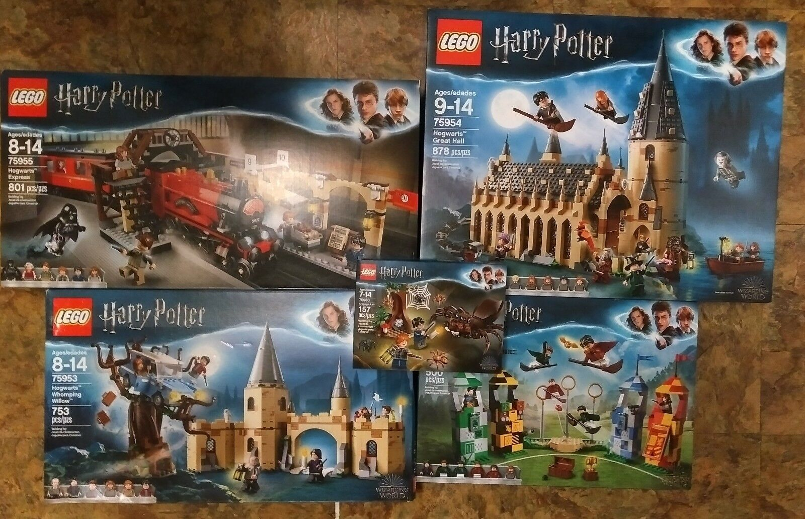 LEGO HARRY POTTER WIZARDING WORLD ALL 5 SETS 75950 75953 75954 75955 75956