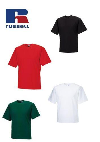 Embroidered Gildan Tshirt Colours Mens Russell 100/%Cotton T-Shirt Plain