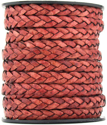 Xsotica® Flat Braided Bracelet Leather Cord 8mm 1 meter
