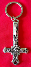 INVERTED CROSS CRUCIFIX KEYCHAIN - black metal bathory venom king diamond