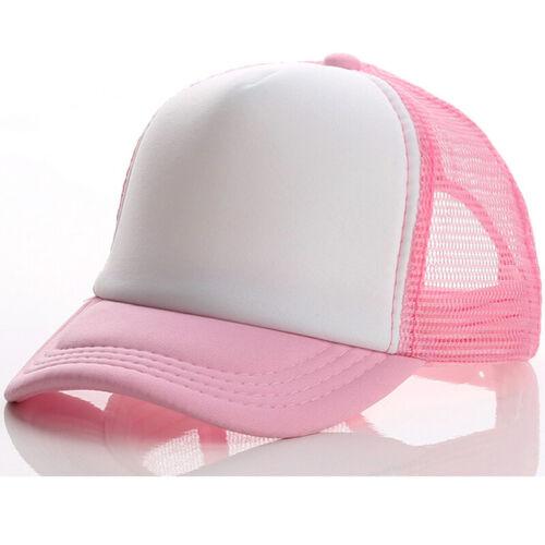 Kids Boys Girl Toddler Mesh Baseball Cap Trucker Snapback Hiphop Adjustable Hat