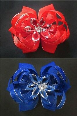 "Lotus Bow Clip 10 BLESSING Happy Girl Hair Accessories Baby New Style 4.5-5/"" A"