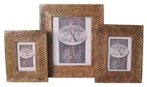 Sustainable source Fair Trade Handmade Iksu Mango Wood 6 x 4 image Photo Frame