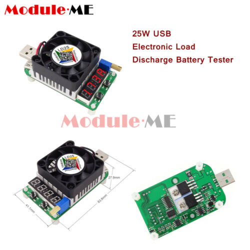 Electronic Load Resistor USB Interface Test Discharge Battery 25W Tester LD25 UK