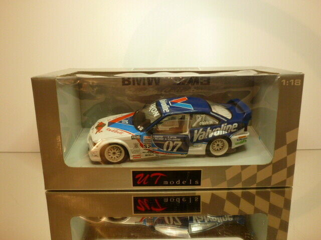 UT MODELS BMW E36 M3 GTR rojo BULL EXXON - azul 1 18  - GOOD CONDITION IN  BOX