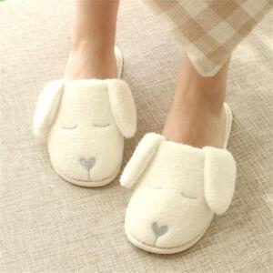 FT Men Animal Cute Women Soft Antiskid Winter Slippers Warm Indoor Home Plush C