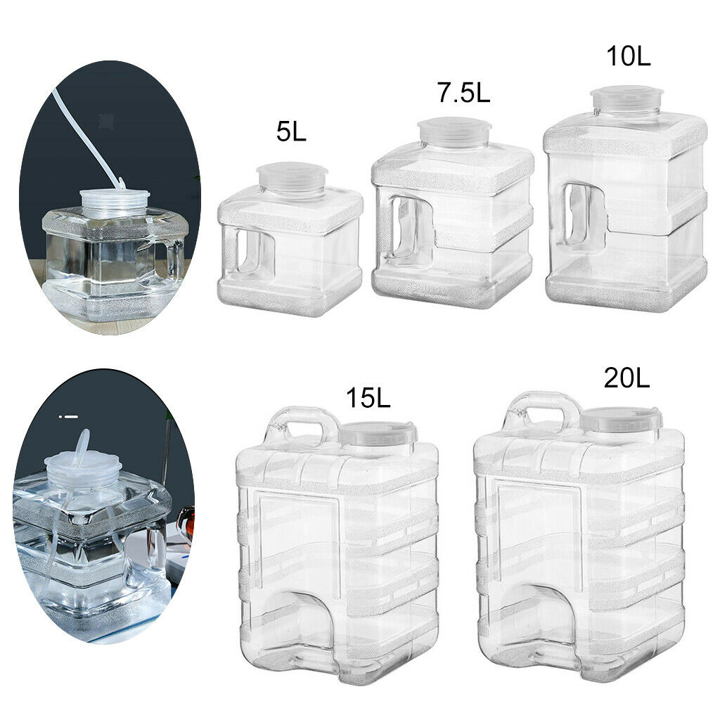 Square Large Water Storage Bottle Tank Carrier with Handle BPA Free Camping