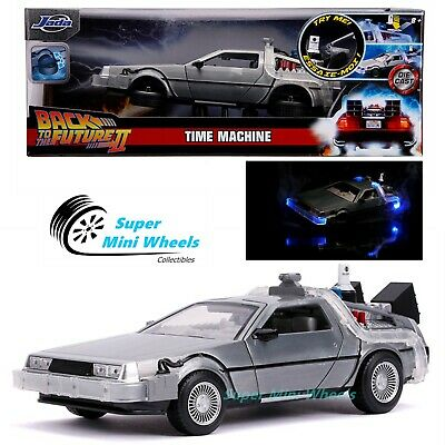 JADA 1:32 HOLLYWOOD RIDES BACK TO THE FUTURE 2 TIME MACHINE DELOREAN 31777 N//B