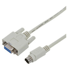 DB9P to 8P Mini Din RS232 Download Cable White 8.2 Ft for PLC DVP-EH W1V1