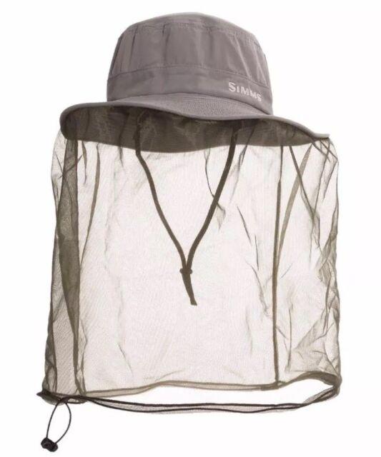 2d29d10fc Simms Sun Bucket Bugstopper Bug Net Sombrero Fishing Hat UPF 50 Hiking Grey
