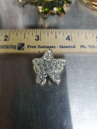 Swarovski crystal Brooch Silver Tone Star Super P… - image 1