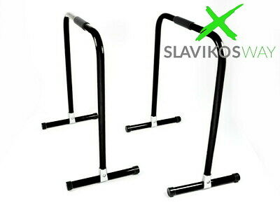 Slavikosway Dip Station Barren Fitness Parallettes 73x61cm Calisthenics Schwarz
