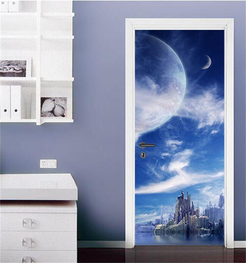 3D Mondschein 76 Tür Wandmalerei Wandaufkleber Aufkleber AJ WALLPAPER DE Kyra | Beliebte Empfehlung  | Fein Verarbeitet  | Shop