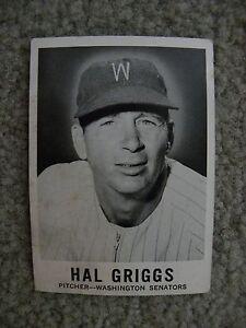 Details About 1960 Leaf Sports Novelties Chicago Il Hal Griggs Washington Senators Card 34
