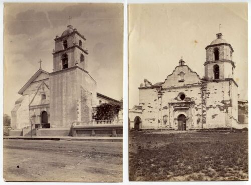 EARLY CHURCHES VINTAGE ALBUMEN PRINTS SET OF 3