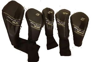 Tommy Armour 845 Head Covers Black Golf Club 3h 4h 5