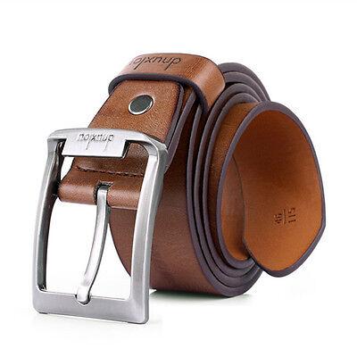 Men's Business Casual Waistband Dress Leather Belt Pin Metal Buckle Strap Hot