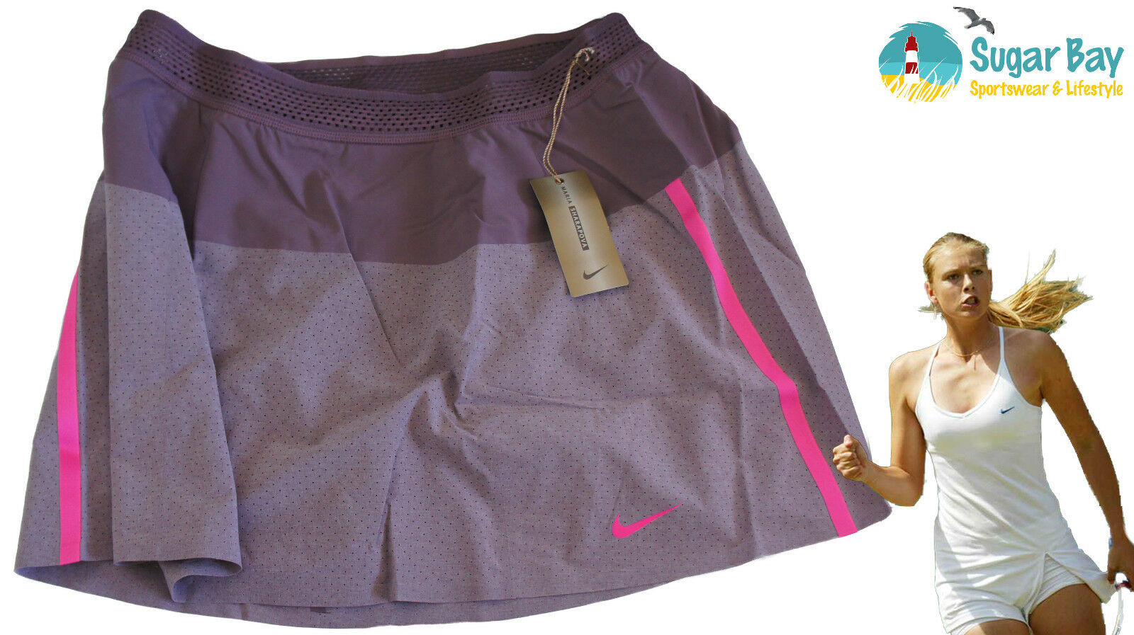 Nike Maria Sharapova Jupe de Tennis Mulberry Short Grand avec Intérieur Short Mulberry dc616c