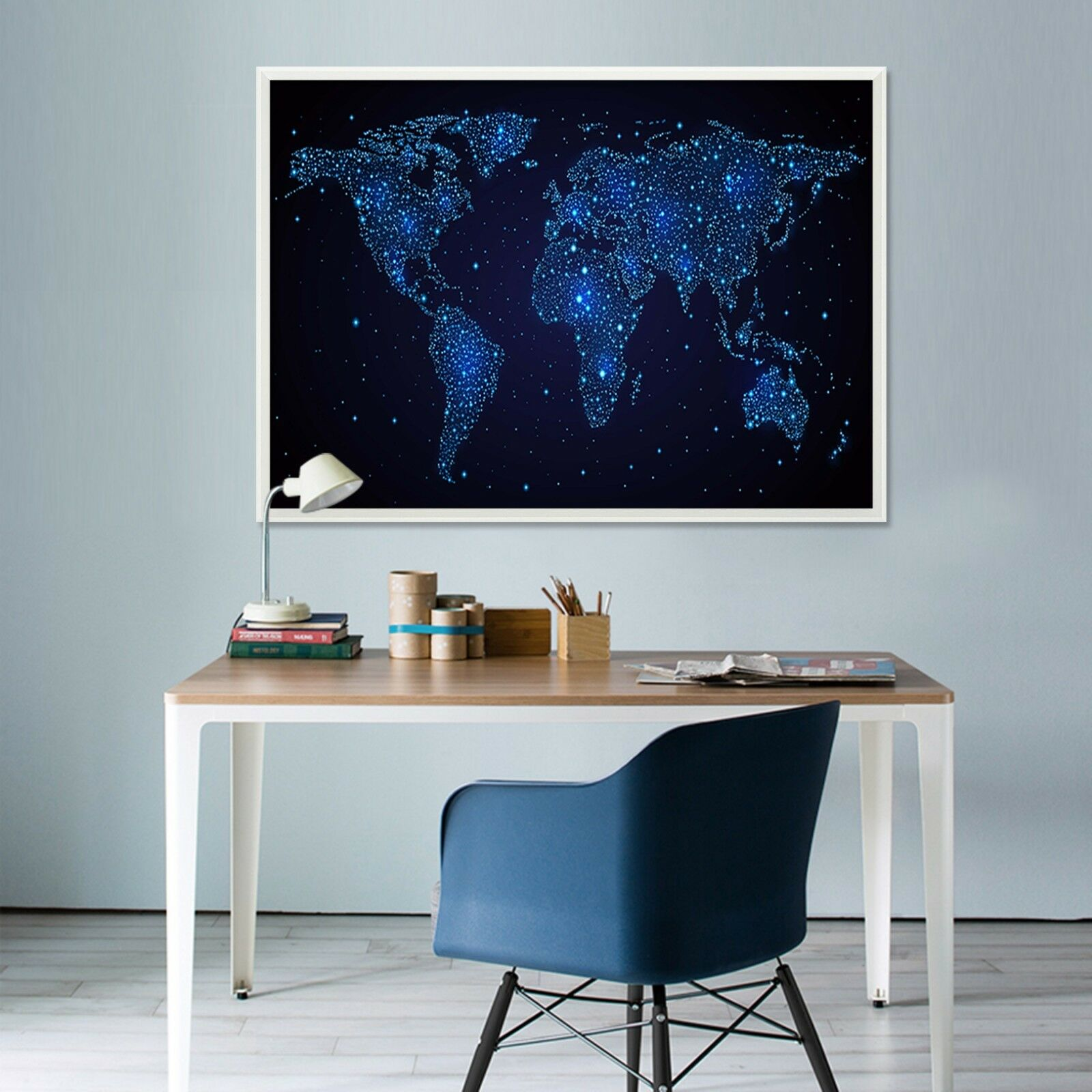 3D World Map 57 Fake Framed Poster Home Decor Print Painting Unique Art Summer