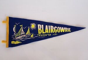 VINTAGE-BLAIRGOWRIE-VICTORIA-AUSTRALIA-SOUVENIR-TOURIST-PENNANT-FELT-CLOTH-FLAG